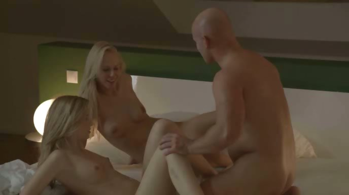 Porn Tube of Gracefully Erotic Blondes Ffm Threesome