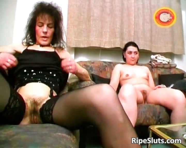 Porn Tube of Slutty Mature Brunette Gets Hairy Pussy