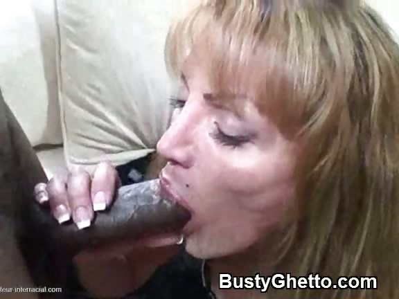 Porno Video of Yummy Mature Lady Sucking Afro Cock