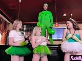 Wild blonde teens got banged at a crazy Irish party