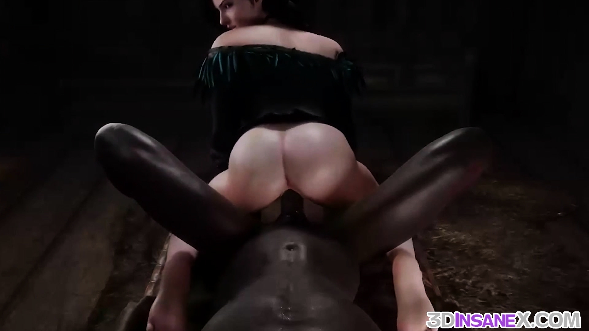 Ideal 3D brunette rammed by giant BBC