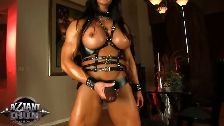 Porno Video of Angela Salvagno Is One Sexy Muscle Goddess With Her Big Black Strap-on