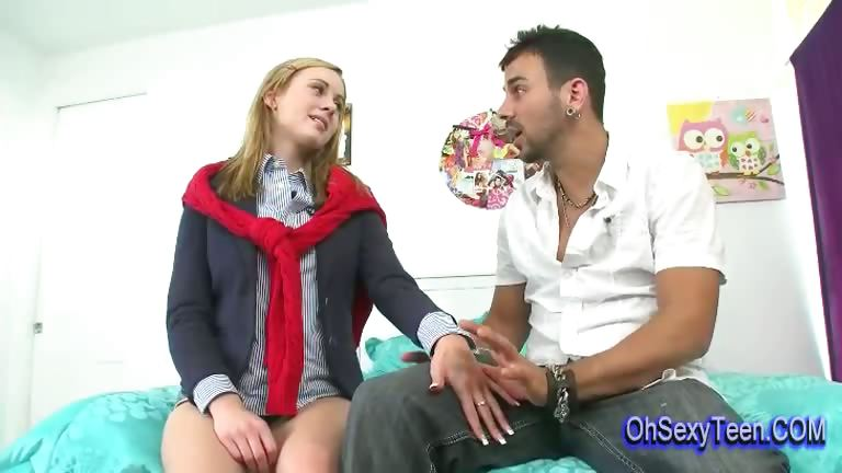 Porn Tube of Shy Young Blonde Girl Has A Crush