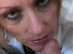 Dr Granny Big Time Blowjob Examination