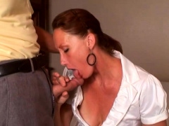 Blonde Mature Woman BJ And Ball Lick