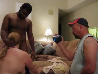Sex Movie of Fat Mature Amateur Fucks A Big Black Dick While Her Hubby Films It And Then He Fucks Her