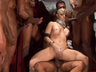 Porn Tube of Bald Girl In A Group Sex Scene From 300 Xxx Gets Everything Fucked