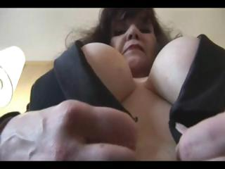 Porno Video of Mature Redhead, With Huge Tits, Poses And Shows Her Fat Pussy