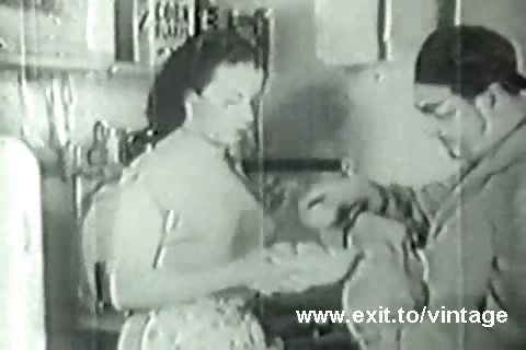 Porno Video of 1936 Vintage With Hairy Amateur Housewife