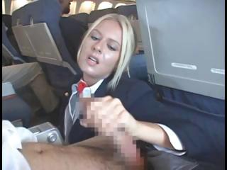 Sex Movie of Blonde Stewardess Is Happy To Nibble On Her Passengers Hard Dick