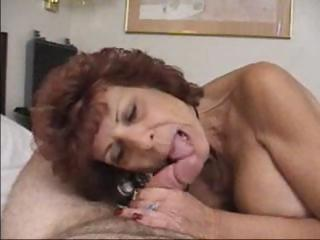 Porno Video of Mature Brunette Takes Cock In Mouth And Then Sits To Get Plowed