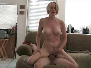 Porno Video of Mature Blonde Amateur Melanie Slur[s On Hubby's Cock And Gets Nailed
