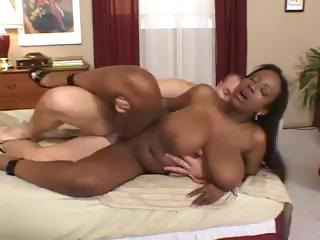 Porn Tube of Busty Ebony Sierra Rides On A White Cock And Then Ends In Mouth