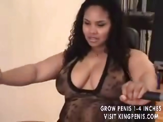 Porn Tube of Bbw Ebony With Huge Tits Eats Black Cock And Then Gets Banged