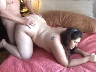 Porn Tube of Brunette Bbw Blows His Cock And Gets Pounded For A Mouthful