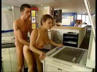 Porno Video of Cute Brunette Secretary Gets Her Tits Xeroxed As She's Getting Nailed By The Boss