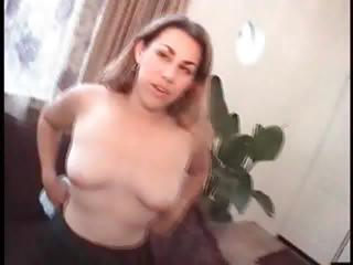 Sex Movie of Brunette Rides This Hard Cock And Gets A Creampie For Her Work
