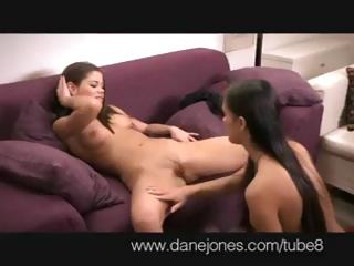 Porn Tube of Brunette Casprice And Another Lesbian Babe Do Some Hot Pussy Eating