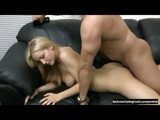 Porn Tube of Blonde Is On The Casting Couch And Shows What She Can Do With Anal
