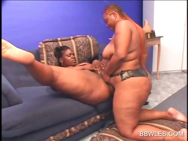 Porno Video of Ebony Bbw Lesbo Pussy Licked And Dildo Fucked