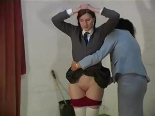 Porn Tube of Naughty Schoolgirls Gets Her Ass Spanked By Lesbian Teacher