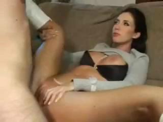 Sex Movie of Busty Brunette Kimberly Kole Eats His Cock And Gets Plowed