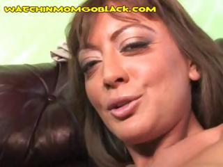 Porno Video of Busty Brunette Mom Goes For The Big Black Cock While Son Watches