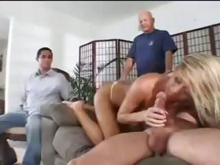Porno Video of Hubby Learns A Lesson While Watching His Blonde Milf Wife Get Pounded