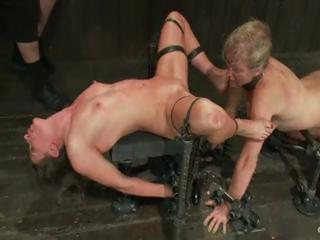 Porn Tube of Lesbian Bdsm Action With Two Bitches Getting Bound And Toyed To Destruction