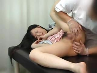 Sex Movie of Young Innocent Japanese Teen Gets A Rectal Exam From The Doctor