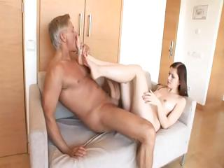 Porno Video of This Old Man Is Stiff Hard Enough To Fuck Abigaile Johnson's Teen Ass