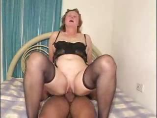 Sex Movie of Plump Brunette Granny Roberts Likes Her Young Latino Cock