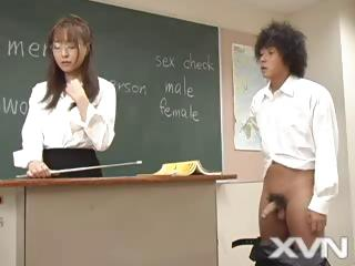 Sex Movie of Japanese Student And His Horny Teacher