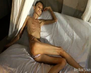 Porn Tube of Extreme Bony Skinny Babe Shows Off Her Tiny Anorexic Body