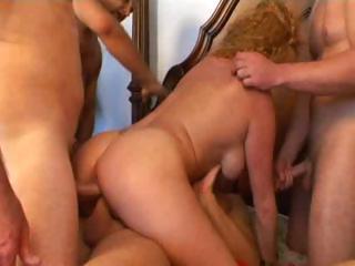 Sex Movie of Redhead Gangbang Girl