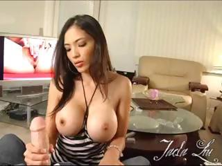 Porn Tube of Sexy Asian Porn Star, Jada Liu, Performs A Slurpy Blow Job