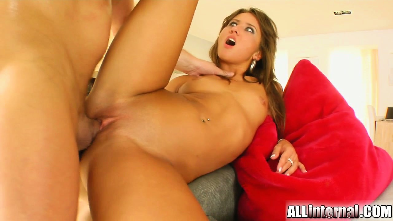 Porn Tube of This Sexy Tanned Teen Gets Her Litte Tight Pussy Pounded By A Hard Cock. A Big Load Of Cum Is Dumped In Her Pussy And It All Oozes Out Of Her