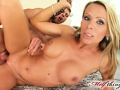 Sexy 37 years old vivien blindfolds this guy of ours and then takes him for a wild ride  she has him eat out her pussy until its soaking wet and then she climbs on top of his cock and rides him like if there was no tomorrow  eventually she has him to shoo | Big Boobs Update