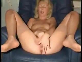 Porn Tube of 54 Year Old Lady Joyce Masturbates At Home