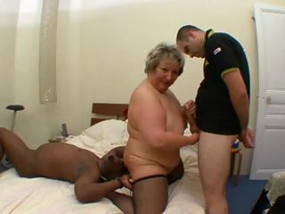 Sex Movie of Nasty French Fat Mature, Carole, Gets Interracial Fucked