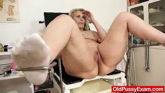 Porno Video of Blond-haired Chubby Milf Explored By Cunt Doctor