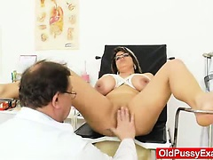 Huge natural melon size titties at obgyn physician | Big Boobs Update