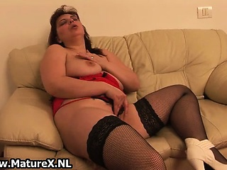 horny mature woman playing