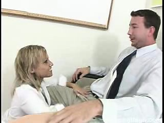 watch this big titty blonde girl suck and fuck one lucky