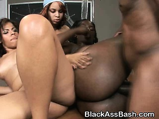 dirty black ghetto sluts with bigs asses nailed in foursome