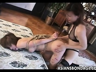 wild lesbian bdsm action with hot japanese chicks