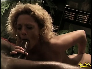 wet pussy and the anus stuffed with black meat