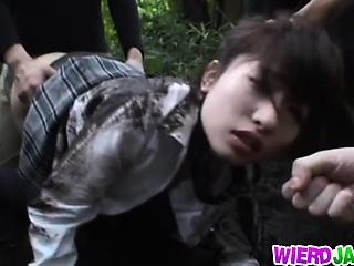 cute japanese school girl got hard fuck with voyeur hard