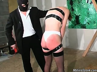 slutty mature blonde is so kinky that she lets those guys