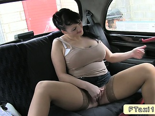 amateur with huge tits anal fuck in fake taxi